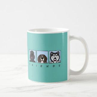 Friends: Bouvier, Beagle & Alaskan Malamute Coffee Mug