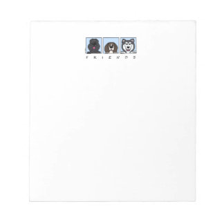 Friends: Bouvier, Beagle & Alaskan Malamute Notepad
