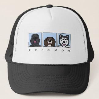 Friends: Bouvier, Beagle & Alaskan Malamute Trucker Hat