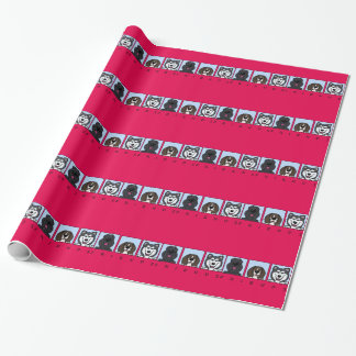 Friends: Bouvier, Beagle & Alaskan Malamute Wrapping Paper