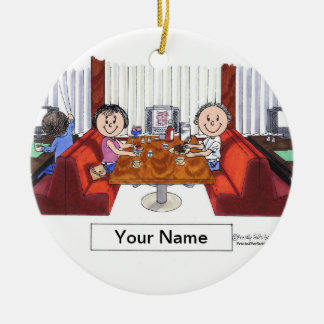 Friends, Couple - Personalized Cartoon, Friendly F Ceramic Ornament