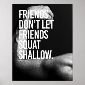 Friends don't let friends squat shallow -   Guy Fi Poster