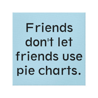 Friends don't let friends use pie charts stretched canvas prints