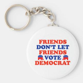 Friends Don't Let Friends Vote Democrat Basic Round Button Key Ring