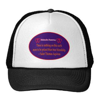 Friends Forever 2 Hearts Purple White Saint Thomas Trucker Hats