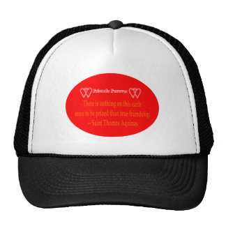 Friends Forever 2 Hearts Red  White Saint Thomas A Trucker Hats