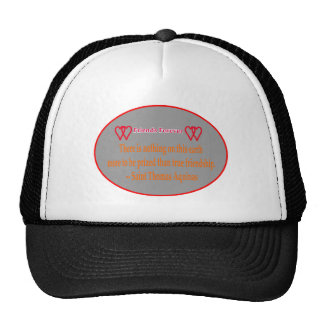 Friends Forever 2 Hearts Silver White Saint Thomas Mesh Hats