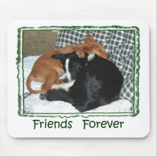 Friends Forever - Border Collie Golden Retriever Mouse Mats