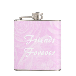 Friends Forever gift drink flask pink floral