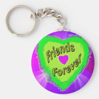 Friends forever Green Heart Key Ring