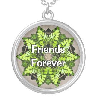 Friends Forever Green Leaf Necklace