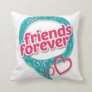 Friends Forever Love hearts <3 Throw Cushion