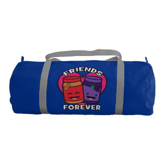 Friends Forever - Peanut Butter And Jelly Kawaii Gym Duffel Bag