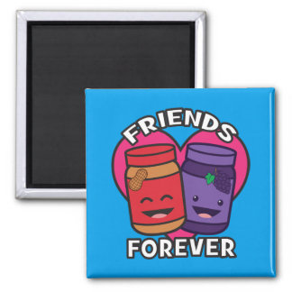 Friends Forever - Peanut Butter And Jelly Kawaii Magnet