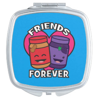 Friends Forever - Peanut Butter And Jelly Kawaii Makeup Mirror