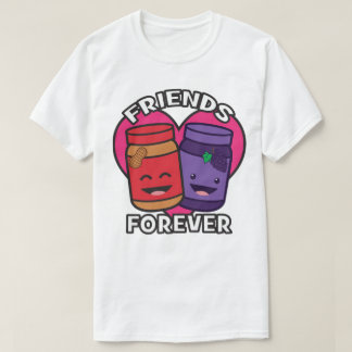Friends Forever - Peanut Butter And Jelly Kawaii T-Shirt