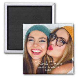 Friends forever | upload photo add names and date magnet