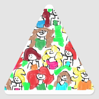 FRIENDS, FRENEMIES, ENEMIES, ALL TOGETHER TRIANGLE STICKER