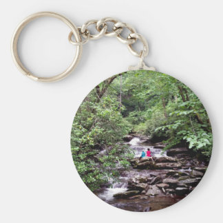 Friends Great Smoky Mountains National Park Basic Round Button Key Ring