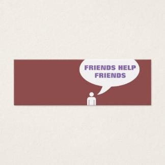 friends help friends comic bubble referral mini business card