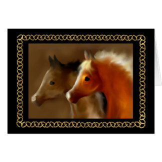 """Friends"" ~ Horseshoe Greeting Card"