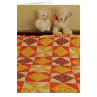 Friends Make Life Bearable, Bears & Quilt Card