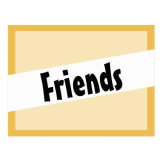 Friends Mister Earl Font Postcard