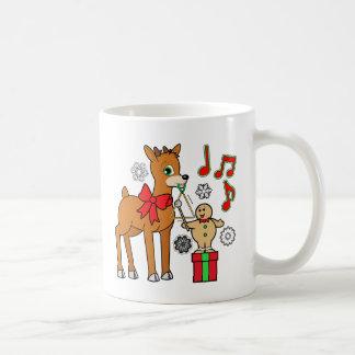 Friends,Music:Christmas Gingerbread Boy &Reindeer Mug