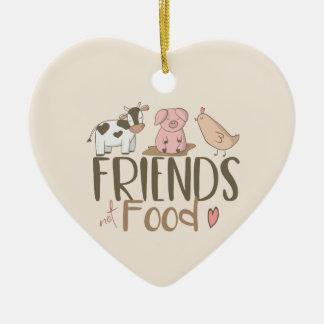 Friends Not Food 2 Ceramic Ornament