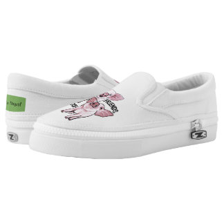 Friends not Food Cute Pigs Shoes Printed Shoes