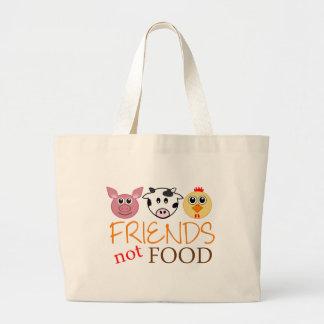 Friends Not Food Jumbo Tote Bag
