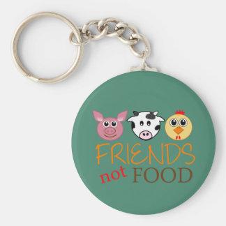 Friends Not Food Key Ring