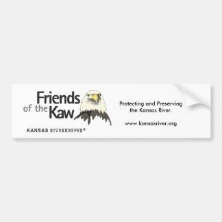 Friends of the Kaw, Riverkeeper logo, Protectin... Bumper Sticker