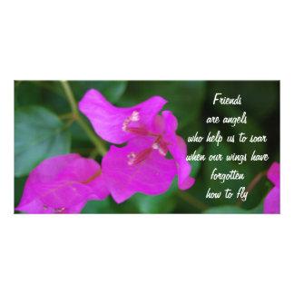 Friends purple flowers photo cards