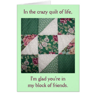 Friends Quilt Of Life Birthday Card