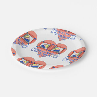 Friends - Quilt Pattern Paper Plate