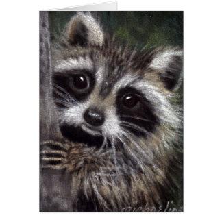 Friends? Raccoon Card