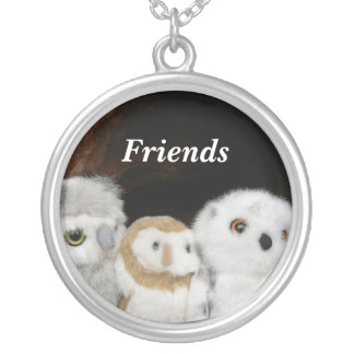 Friends Round Pendant Necklace