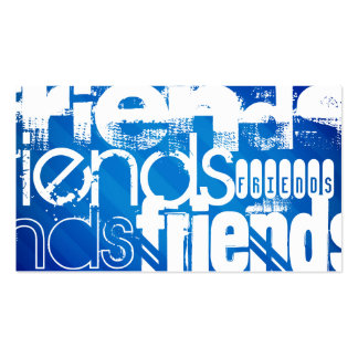 Friends; Royal Blue Stripes Pack Of Standard Business Cards