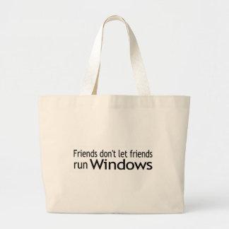 Friends Run Windows Tote Bags
