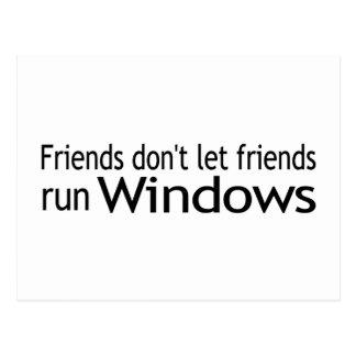 Friends Run Windows Post Cards