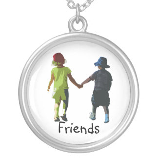 friends silver plated necklace