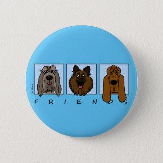 Friends: Spinone Italiano, Tervueren, Bloodhound 6 Cm Round Badge