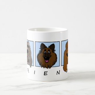 Friends: Spinone Italiano, Tervueren, Bloodhound Coffee Mug
