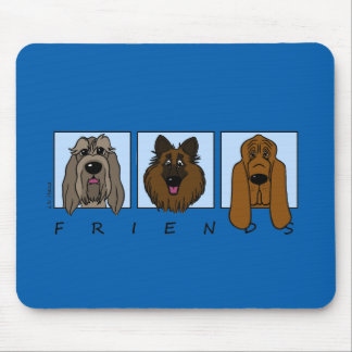 Friends: Spinone Italiano, Tervueren, Bloodhound Mouse Pad