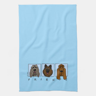 Friends: Spinone Italiano, Tervueren, Bloodhound Tea Towel