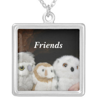 Friends Square Pendant Necklace