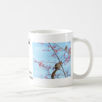 Friends - Squirrel and Bird Friends Eating Berries Coffee Mug
