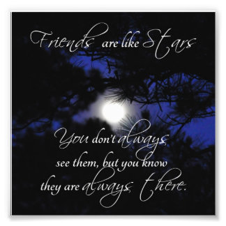 Friends Star Quote Square Photo Print