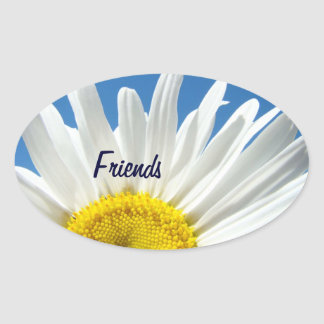 Friends stickers White Daisy Flowers seals